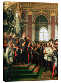 Canvas print  The proclamation of the Emperor of the new German Reich - Anton Alexander von Werner