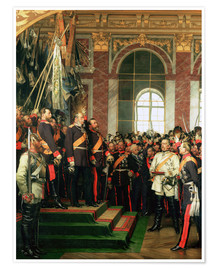 Premium poster The proclamation of William as Emperor of the new German Reich