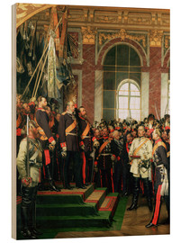 Wood print  The proclamation of the Emperor of the new German Reich - Anton Alexander von Werner