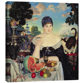 Canvas print  The Merchant's Wife at Tea - Boris Mihajlovic Kustodiev