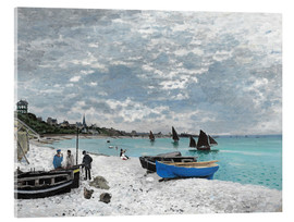 Acrylic print  The Beach at Sainte-Adresse - Claude Monet