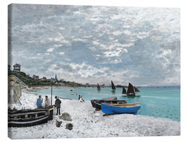 Canvas print  The Beach at Sainte-Adresse - Claude Monet