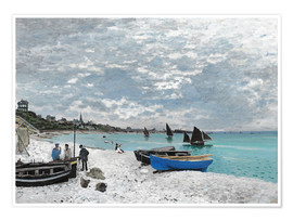 Premium poster  The Beach at Sainte-Adresse - Claude Monet