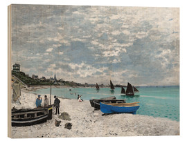 Wood  The Beach at Sainte-Adresse - Claude Monet