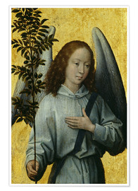 Premium poster  Angel Holding an Olive Branch - Hans Memling