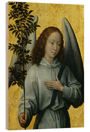 Wood print  Angel Holding an Olive Branch - Hans Memling
