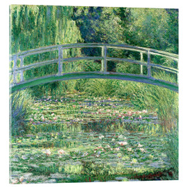 Acrylic glass  White Waterlilies - Claude Monet