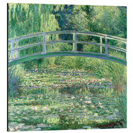Alu-Dibond  White Waterlilies - Claude Monet