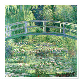 Premium poster  White waterlilies - Claude Monet