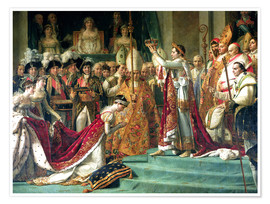 Poster The Consecration of the Emperor Napoleon and the Coronation of the Empress Jose (detail)