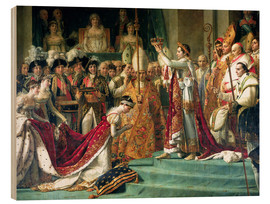 Wood  The Consecration of the Emperor Napoleon and the Coronation of the Empress Jose (detail) - Jacques-Louis David