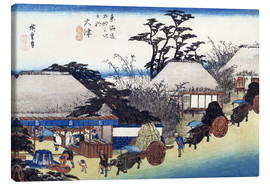 Canvas print  The Teahouse at the Spring - Utagawa Hiroshige