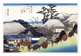 Poster  The Teahouse at the Spring - Utagawa Hiroshige