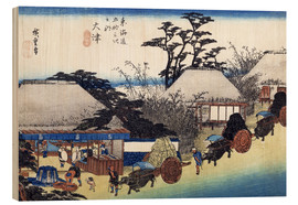 Wood print  The Teahouse at the Spring - Utagawa Hiroshige