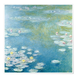 Premium poster  Nympheas at Giverny - Claude Monet