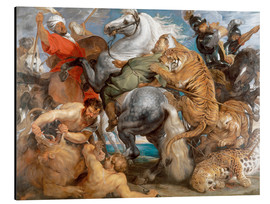 Aluminium print  The Tiger Hunt - Peter Paul Rubens