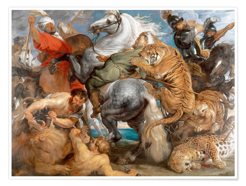 Premium poster The Tiger Hunt