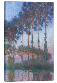 Canvas print  Poplars on the Banks of the Epte - Claude Monet