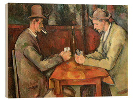 Wood print  The Card Players - Paul Cézanne