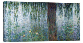 Canvas  Waterlilies: Morning with Weeping Willows (detail) - Claude Monet
