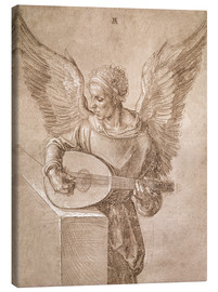 Canvas print  Angel playing a lute - Albrecht Dürer