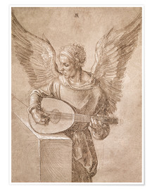 Premium poster Angel playing a lute