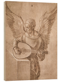 Wood  Angel playing a lute - Albrecht Dürer