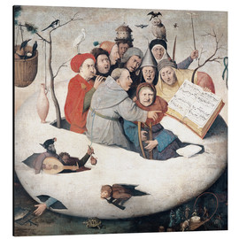Alu-Dibond  The Concert in the Egg - Hieronymus Bosch