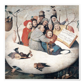 Premium poster  The Concert in the Egg - Hieronymus Bosch