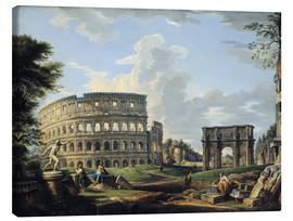 Canvas print  The Coliseum and the Arch of Constantine - Giovanni Paolo Pannini
