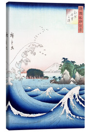 Canvas print  The wave - Utagawa Hiroshige