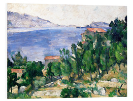 Foam board print  View of Mount Marseilleveyre and the Isle of Maire - Paul Cézanne