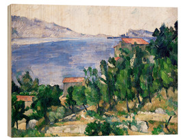 Wood  View of Mount Marseilleveyre and the Isle of Maire - Paul Cézanne