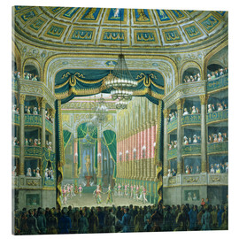 Acrylic print  View of the Parisian opera stage - French School