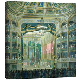 Canvas print  View of the Parisian opera stage - French School