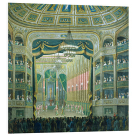 Foam board print  View of the Parisian opera stage - French School