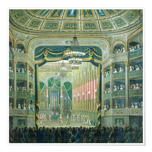 Premium poster View of the Parisian opera stage