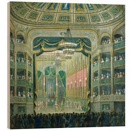 Wood print  View of the Parisian opera stage - French School