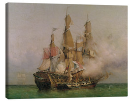 Canvas print  The Taking of the 'Kent' by Robert Surcouf - Ambroise Louis Garneray