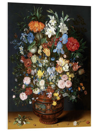 Foam board print  Vase of Flowers - Jan Brueghel d.Ä.