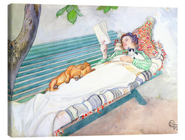 Canvas  Woman lying on a bench - Carl Larsson