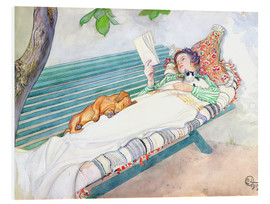 Forex  Woman Lying on a Bench - Carl Larsson