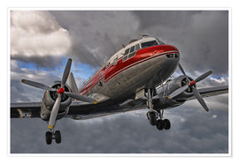 Poster  old lady of aviation - Joachim G. Pinkawa