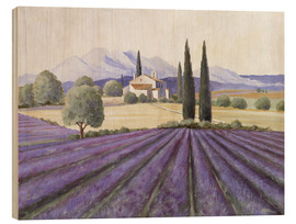 Wood  Lavender Fields - Franz Heigl