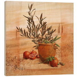 Wood  Pomegranate and olive harvest - Franz Heigl