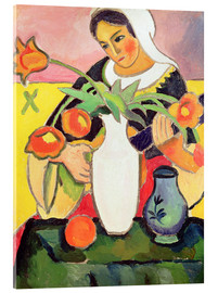 Acrylic print  The Lute Player - August Macke