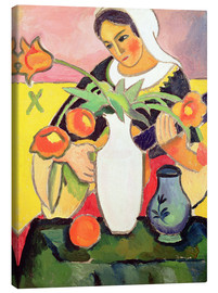 Canvas  The Lute Player - August Macke