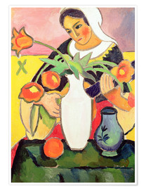 Premium poster  The Lute Player - August Macke