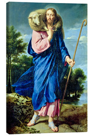 Canvas print  The Good Shepherd - Philippe de Champaigne