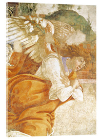 Acrylic glass  The Annunciation, detail of the Archangel Gabriel - Sandro Botticelli
